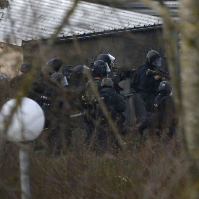 Polisoperation i Dammartin-en-Goële den 9 januari 2015.