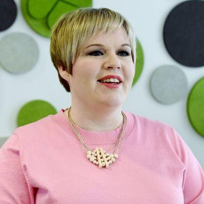 Annika Saarikko under Centerns partifullmäktige den 24 april 2021.