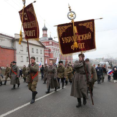 Marsch till stöd för president Vladimir Putin i Moskva.
