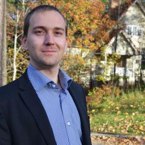 Christoffer Masar i höstlandskap