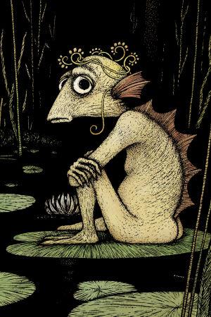 """Illustration ur Lena Frölander-Ulfs barnbok """"Jag, Fidel och skogen""""."""