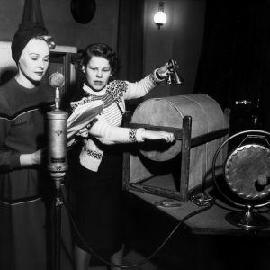 Ljudeffekter i radion på 1940-talet.