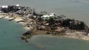 En flygbild tagen i Bahamas av USA:s kustbevakning på tisdagen 3.9.