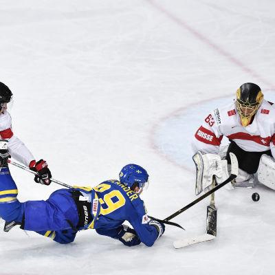 William Nylander gjorde segermålet mot Schweiz.