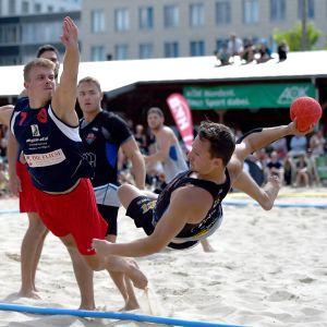En beachhandbollbild.