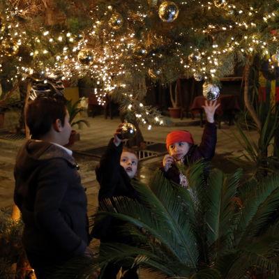 Julfirande i Damaskus, Syrien.