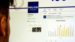 Polisen i Österbotten twittrade på skolavslutningshelgen.