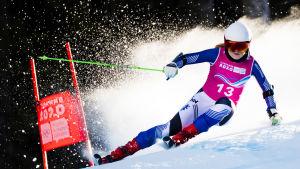 Rosa Pohjolainen i farten under ungdoms-OS 2020.