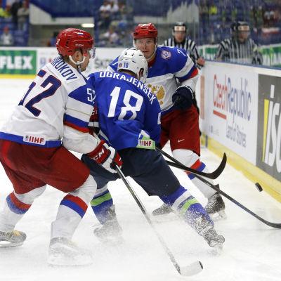 Ryssland mot Slovenien i ishockey-VM i Tjeckien.