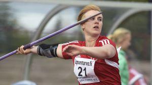 Sanni Utriainen kastade nytt personligt rekord.