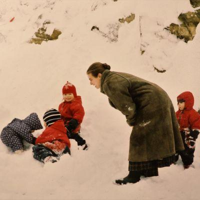 Annika med barn