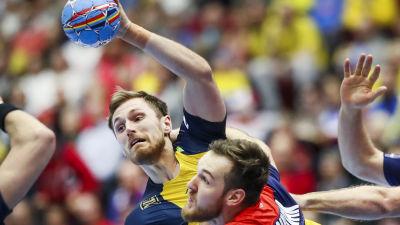 Albin Lagergren i svenska landslaget.