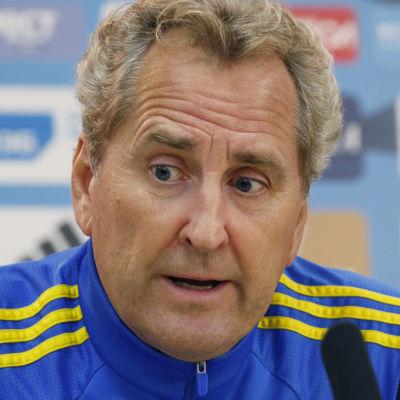 Erik Hamrén, Sveriges förbundskapten, hösten 2015.