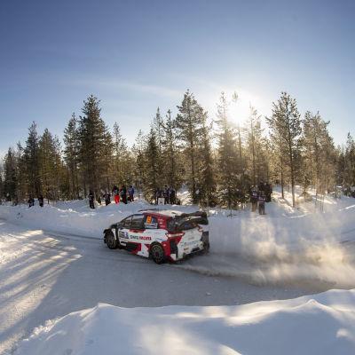 Kalle Rovanperä Toyotallaan Rovaniemen MM-rallissa 2021.