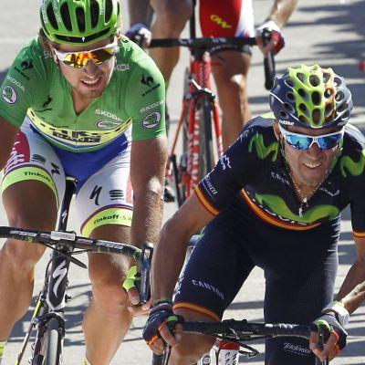 Alessando Valverde (höger) vann den fjärde etappen.