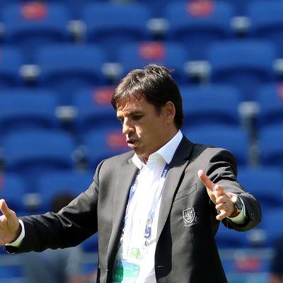 Walesin päävalmentaja Chris Coleman