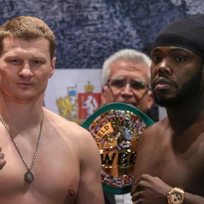 Alexander Povetkin och Bermane Stiverne är proffsboxare.