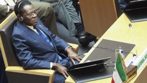 Teodoro Obiang Nguema Mbasogo deltog i Afrikanska Unionens toppmöte i januari 2016.