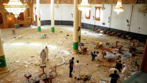 Moskén i Kuwait efter självmordsattacken den 26 juni 2015.