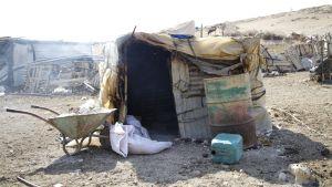 Den palestinska byn Khirbet Tell el Himma i Jordandalen