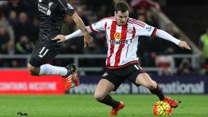 Adam Johnson, Liverpool-Sunderland, februari 2016.