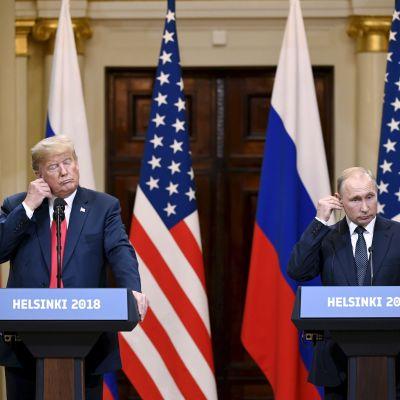 Trump och Putin - Presskonferens