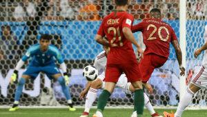 Ricardo Quaresma gjorde ett vackert mål mot Iran.