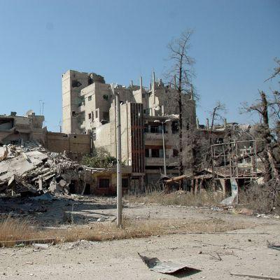 Ett sönderbombat Homs.