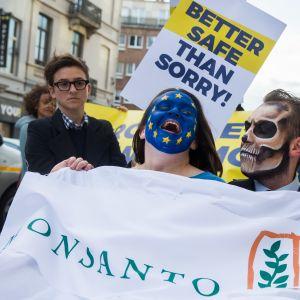 Demonstration mot glyfosat i Bryssel