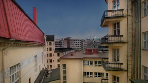 Rakennuksia ja niiden kattoja Helsingissä.