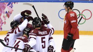 Lettland-Schweiz, OS 2014