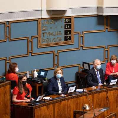 Eduskunta äänesti EU:n elpymispaketin puolesta.