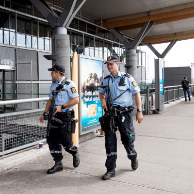 Höjd beredskap i Norge på grund av terrorhot.
