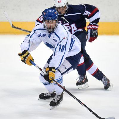 Janne Kuokkanen i Ivan Hlinka Memorial-turneringen hösten 2015.