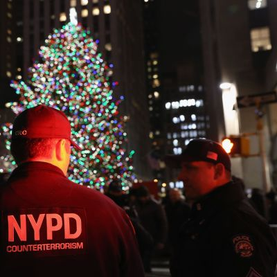 Polis i centrala New York i december 2017.