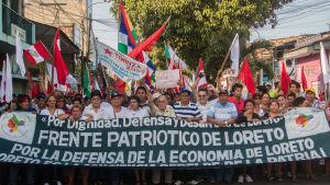 Aktivister i regionen Loreto i Peru har länge motsatt sig att privata bolag tillåts utvinna olja i känsliga områden i Amazonas