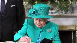drottningen under ett fyra dagar långt historiskt besök i Irland