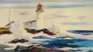 Andrew Wyeths målning Marshall Point Light från 1946