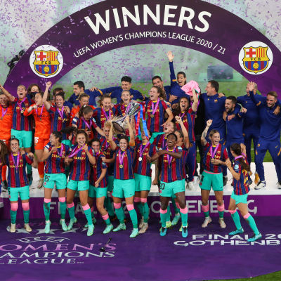 Barcelonas damlag vann sin första Champions League-titel.