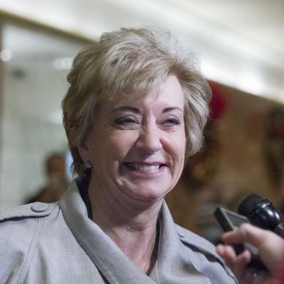 Wrestlingmagnaten Linda McMahon valdes till Donald Trumps kabinett.