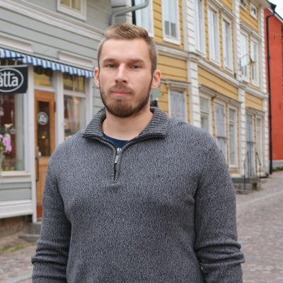 Christian Lindblad från Borgå Akilles handboll i Gamla stan