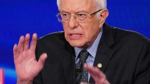 Vermontsenatorn Bernie Sandes och Joe Biden möttes i en tv-debatt senast i söndags.
