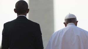 Barack Obama och påven Franciskus