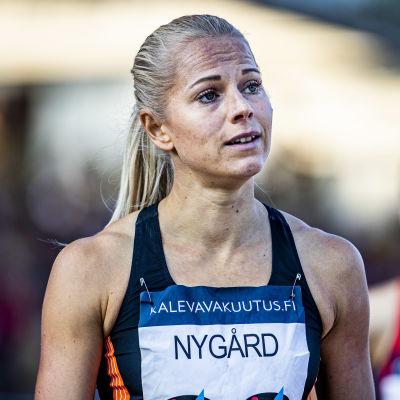 Jeanine Nygård ser besviken ut.