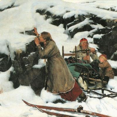Poltettu kylä on Albert Edelfeltin historiamaalaus jossa Nainen poika ja vanha mies ovat piilossa kiven takana ja kylä palaa sotajoukon toimesta.