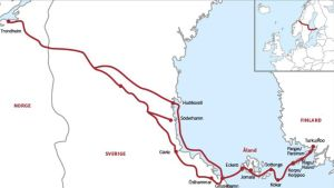 Karta över S:t Olofs sjöled