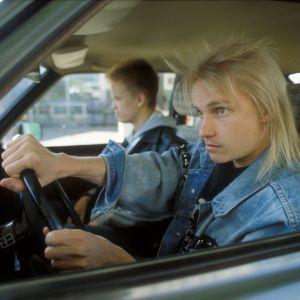 Autovaras-tv-draamassa Antti Majanlahti (Jesse) ja Sampsa Helminen (Veka) 1991