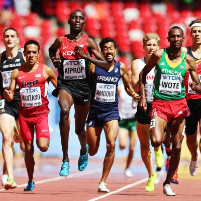 Asbel Kiprop är regerande världsmästare på 1500 meter.