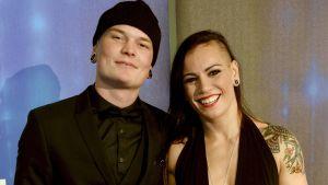 Niklas Räsänen och Eva Wahlström, Idrottsgalan 12.1.2016.