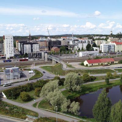 Ilmakuva Mikkelin kaupungista elokuussa 2021.